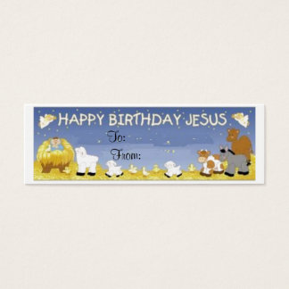 Happy Birthday Jesus Gift Tag Card -