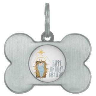 Happy Birthday Jesus Pet ID Tag