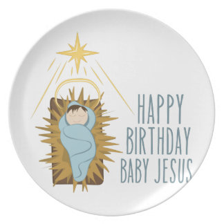 Happy Birthday Jesus Plate