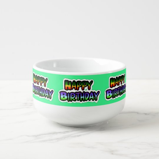 Happy Birthday Jumbo Mug Bowl Soup Bowl With Handle