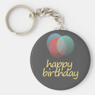 happy birthday keychain