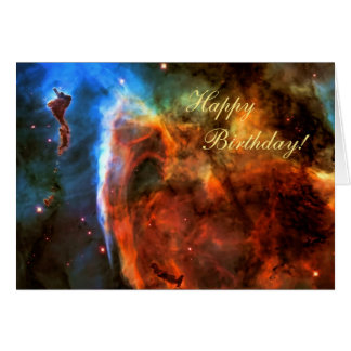 Happy Birthday - Keyhole Nebula, Digitus Impudicus Card