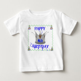 Happy Birthday - King Today - Toddler - White Baby T-Shirt