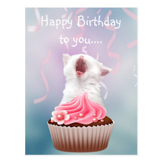 Happy Birthday kitten Postcard