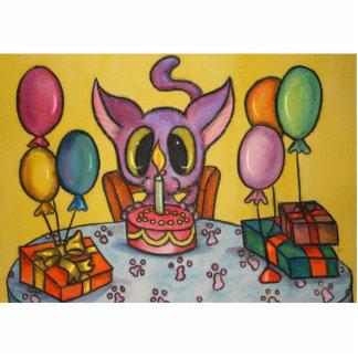 Happy Birthday Kitty Standing Photo Sculpture