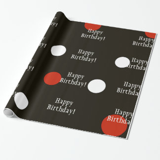 Happy Birthday Lady Bug Wrapping Paper