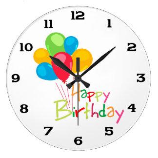 Happy Birthday Large Clock