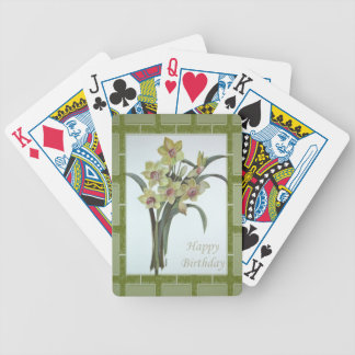 Happy Birthday - Lent Lily Bicycle Playing Cards