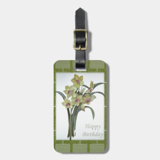 Happy Birthday - Lent Lily Luggage Tag