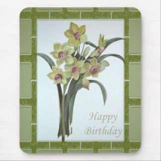 Happy Birthday - Lent Lily Mouse Pad