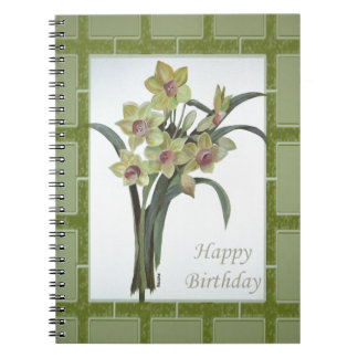 Happy Birthday - Lent Lily Notebook