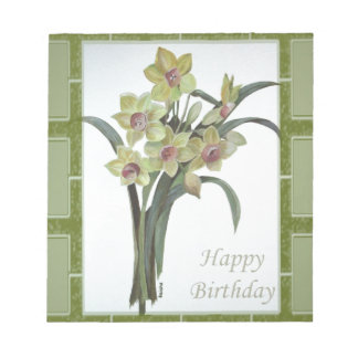 Happy Birthday - Lent Lily Notepad