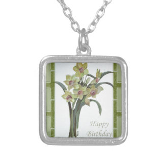 Happy Birthday - Lent Lily Silver Plated Necklace
