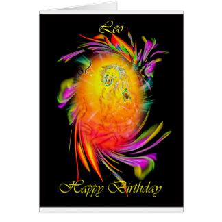 Happy Birthday Leo Card