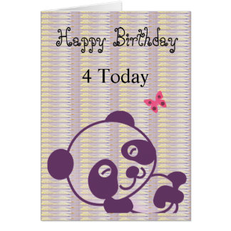 Happy Birthday Lilac Panda Card