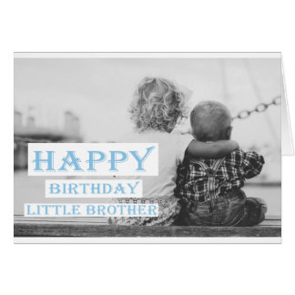 Happy Birthday Little Brother Note Card