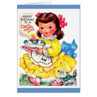 Happy birthday little girl! card