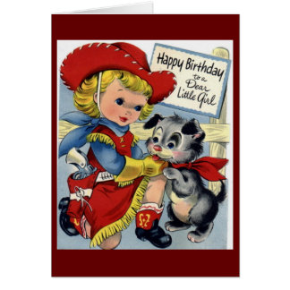 Happy Birthday - Little Girl Cards