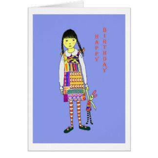 Happy Birthday, Little girl Greeting Card