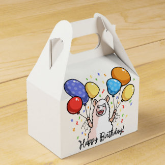 Happy Birthday Llama Favor Box