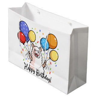 Happy Birthday Llama Large Gift Bag