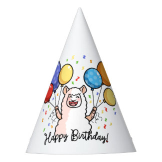 Happy Birthday Llama Party Hat