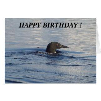 Happy Birthday Loon Greetings Card