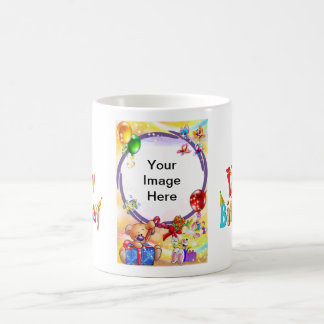 happy birthday love rainbow balloons coffee mug