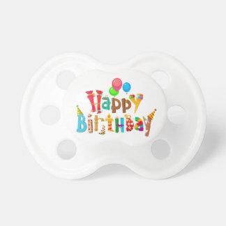 happy birthday love rainbow balloons pacifier