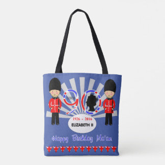 Happy Birthday Ma'am Queen Elizabeth II 90th Tote Bag