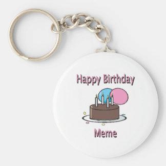 Happy Birthday Meme French Birthday Design Keychains