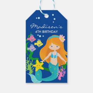 Happy Birthday Mermaid | Under The Sea Gift Tags