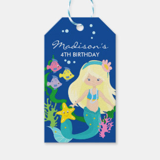 Happy Birthday Mermaid | Under The Sea Gift Tags
