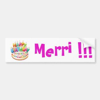 Happy Birthday! Merri !!! sticker {Template}