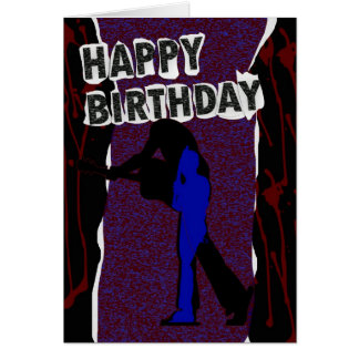 Happy Birthday Modern card, Retro Punk Card