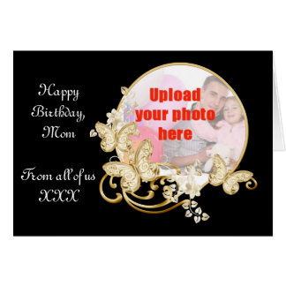 Happy birthday Mom add a photo Card