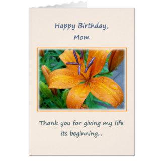 Happy Birthday, Mom Card