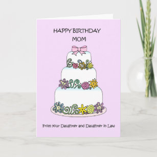 Happy Birthday Mom Daughter And In Law Card