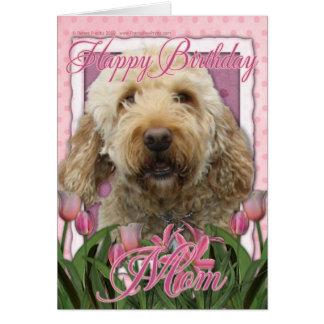 Happy Birthday Mom - Goldendoodle Card