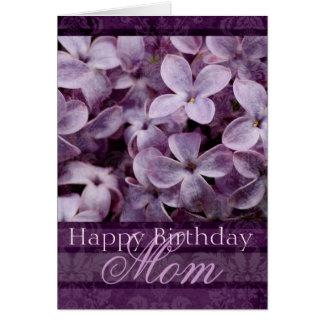 Happy Birthday Mom Lilacs Card