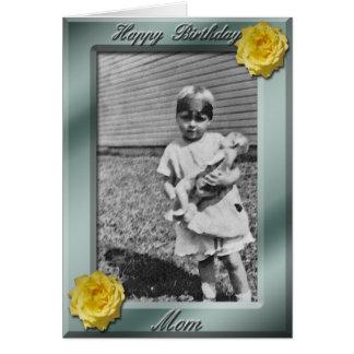 Happy Birthday Mom Photo Card template