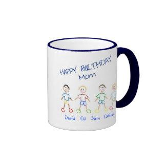 Happy Birthday Mom Ringer Mug