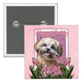 Happy Birthday Mom - ShihPoo - Maggie 2 Inch Square Button