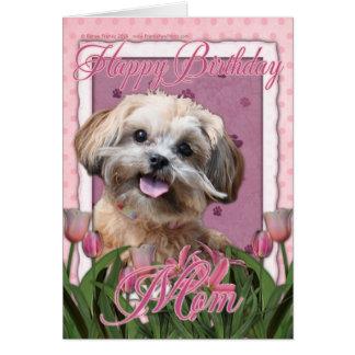 Happy Birthday Mom - ShihPoo - Maggie Card