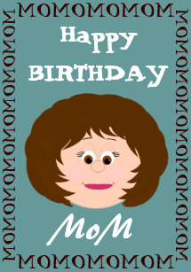 Happy Birthday Mom Son Card