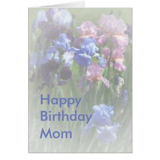 Happy Birthday Mom Summer Iris Template Card
