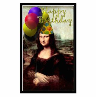 Happy Birthday Mona Lisa Standing Photo Sculpture