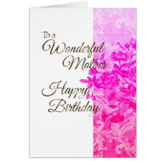 Happy Birthday Mother (pink) Card