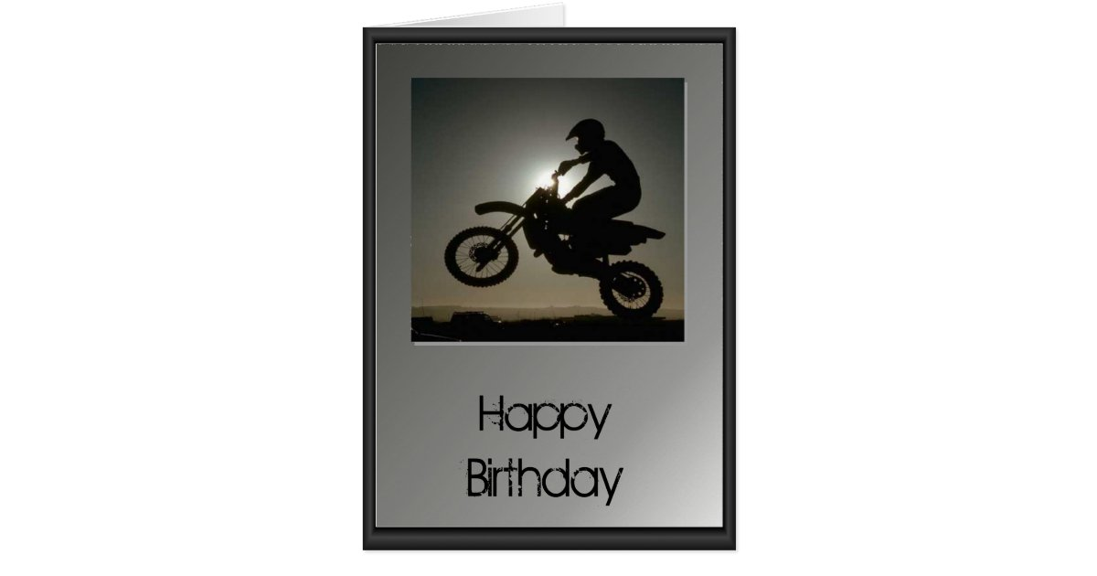 Happy Birthday Motocross Card – Motocross Birthday Cards