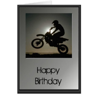 Happy Birthday - Motocross Greeting Card
